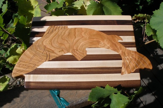 Leaping Salmon Cutting Board