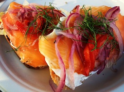 San Francisco Style Red Lox Sandwich